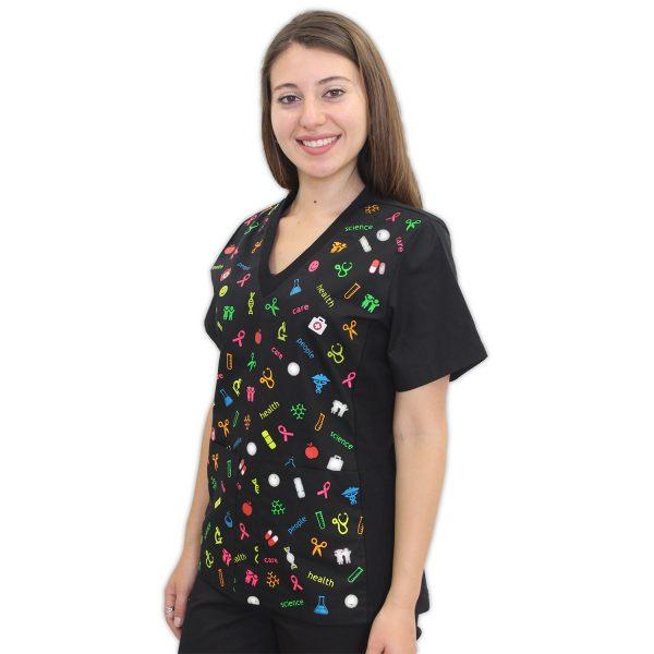 Delantal Estampado Health & Care – Mujer