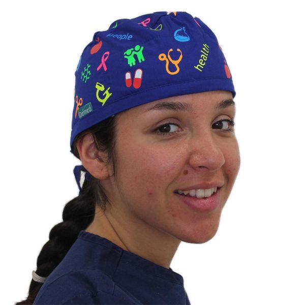 Gorro azul rey Health & Care -Unisex