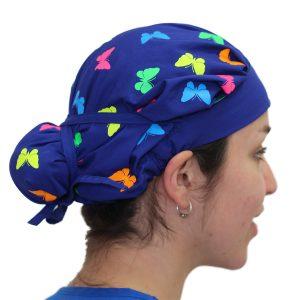 Gorro Azul Rey Mariposas Colores - Mujer