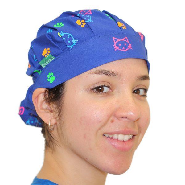 Gorro Azul Rey Gatitos Patitas - Mujer