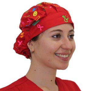 Gorro Rojo Health & Care - Mujer
